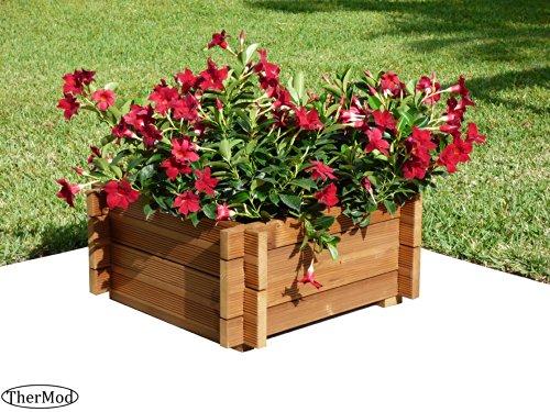 Organic gardening wood Planter Box Solo2
