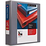 Staples 976037 1-1/2-Inch Staples Heavy-Duty View Binder with D-Rings Light Gray