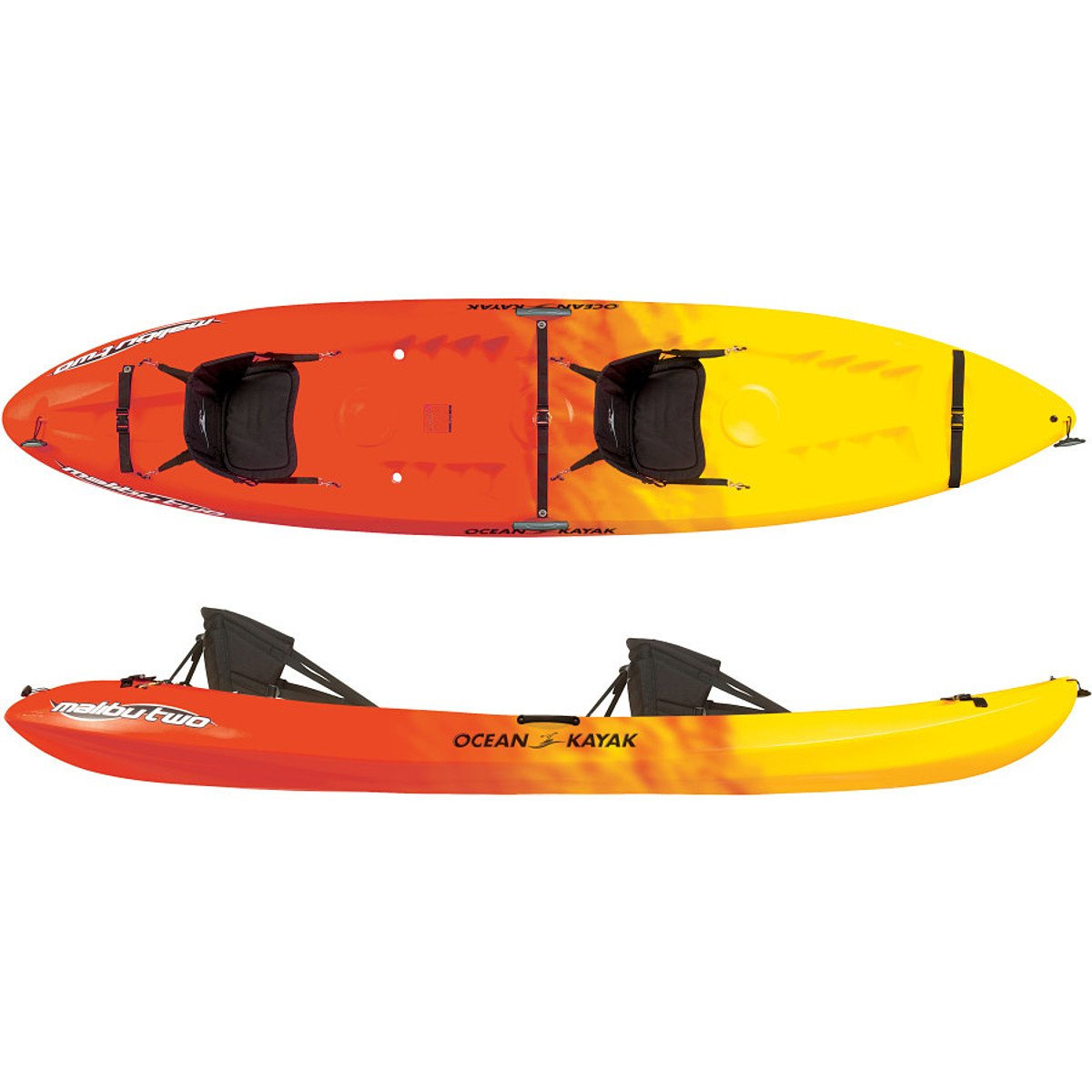 Ocean Kayak Malibu Two Tandem Sit-On-Top Recreational Kayak (Sunrise, 12-Feet) by Ocean Kayak