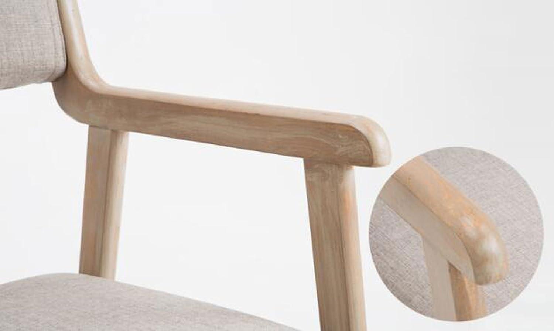 HXF – modern enkel vintage matstol massiv trästol restaurang armstöd vardaglig fåtölj vuxen dator skrivbord stol hållbar (färg: D) a