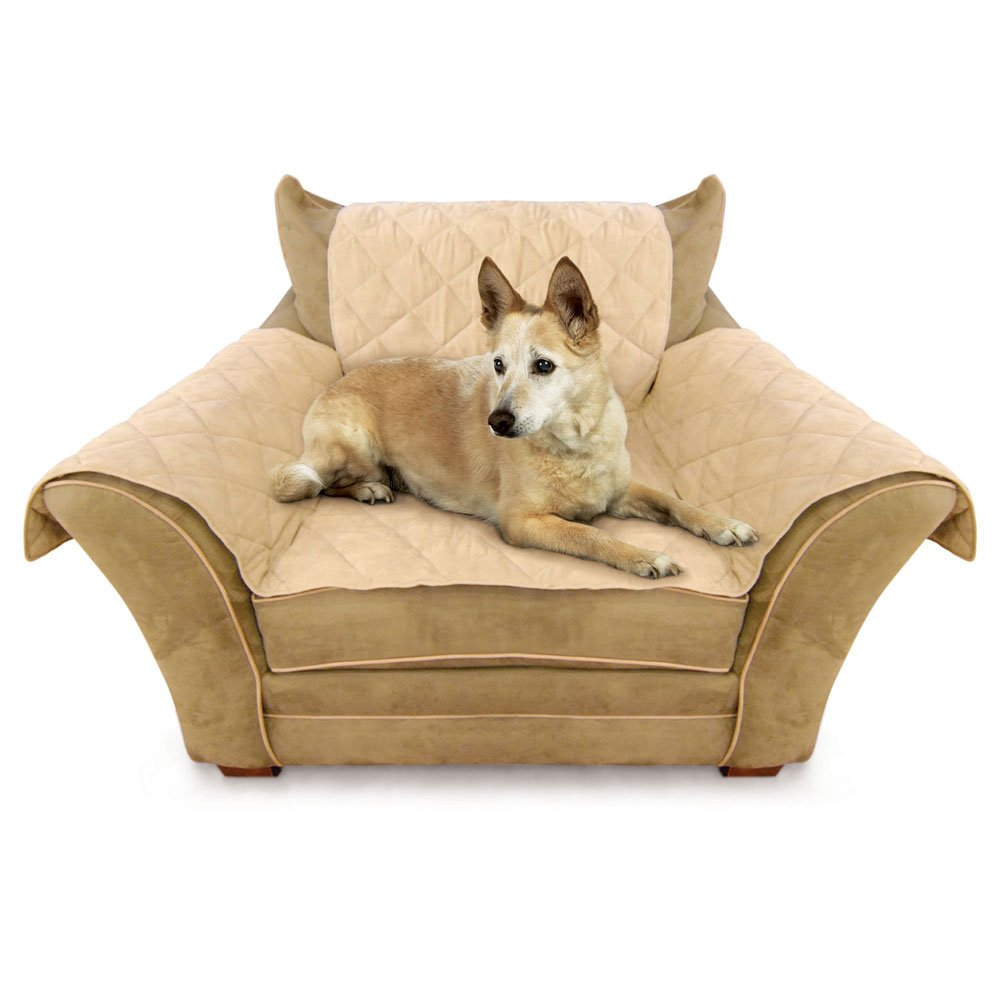 Tan K/&H Manufacturing Furniture Pet Cover for Couch