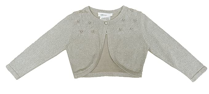 11057775d75 Image Unavailable. Image not available for. Colour  Bonnie Jean Little Girls   Metallic Flyaway Cardigan ...