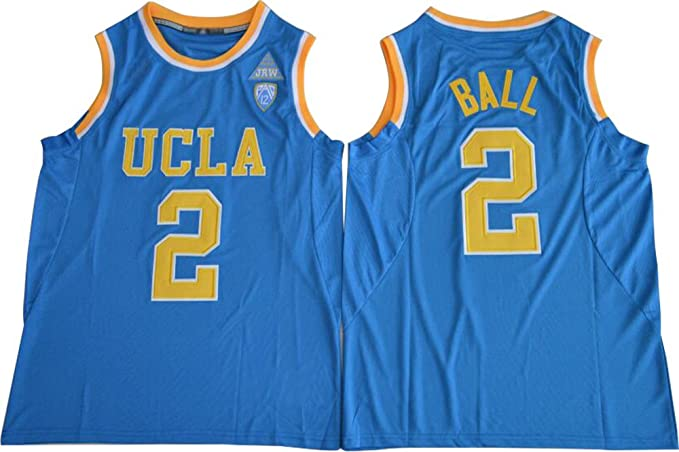 696dd77c63c Mens UCLA Bruins #2 Lonzo Ball College Basketball Jersey Blue (L ...
