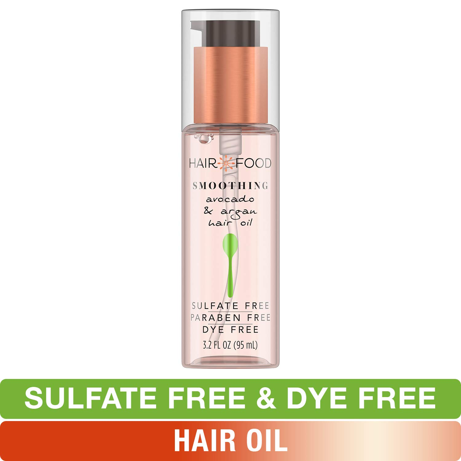 Sulfate Free Hair Oil, Dye Free Smoothing Treatment, Argan Oil and Avocado, Hair Food, 3.2 FL OZ