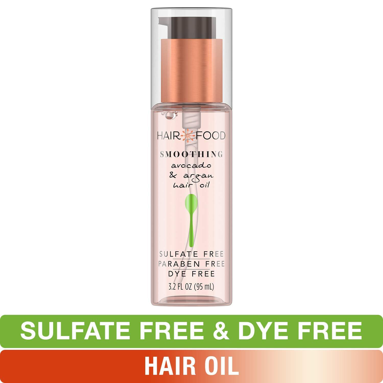 Sulfate Free Hair Oil, Dye Free Smoothing Treatment, Argan Oil and Avocado, Hair Food, 3.2 FL OZ