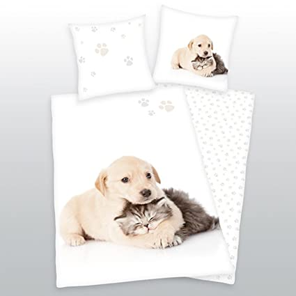 Herding cama de perro y gato 135 x 200 cm 100% algodón ...