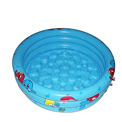 GreenItem Inflatable Pool Baby Swimming Pool, Durable Friendly PVC 36 x 10 Inch Portable Outdoor Indoor Children Basin Bathtub Kids Pool Water Play Ball Pit(Blue): Toys & Games