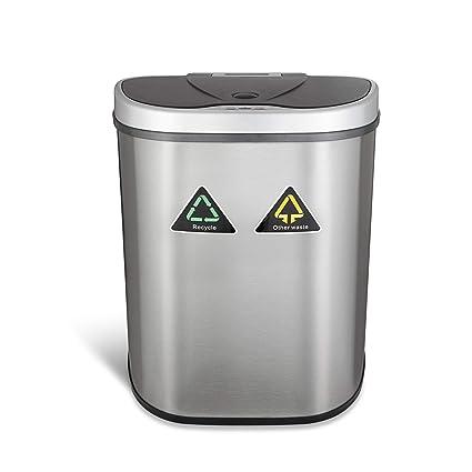 Cubo de basura del sensor 70 litros Cubo de basura automático del acero inoxidable del 100