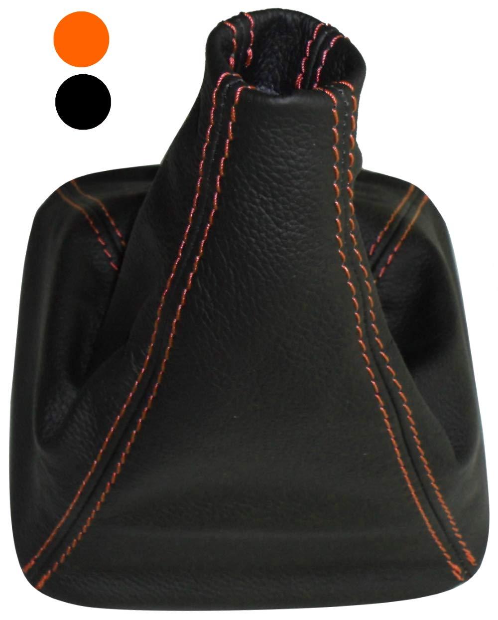 noir avec surpiq/ûres noires AERZETIX Soufflet de levier de vitesse en 100/% cuir v/éritable avec couture//surpiq/ûres couleurs variables