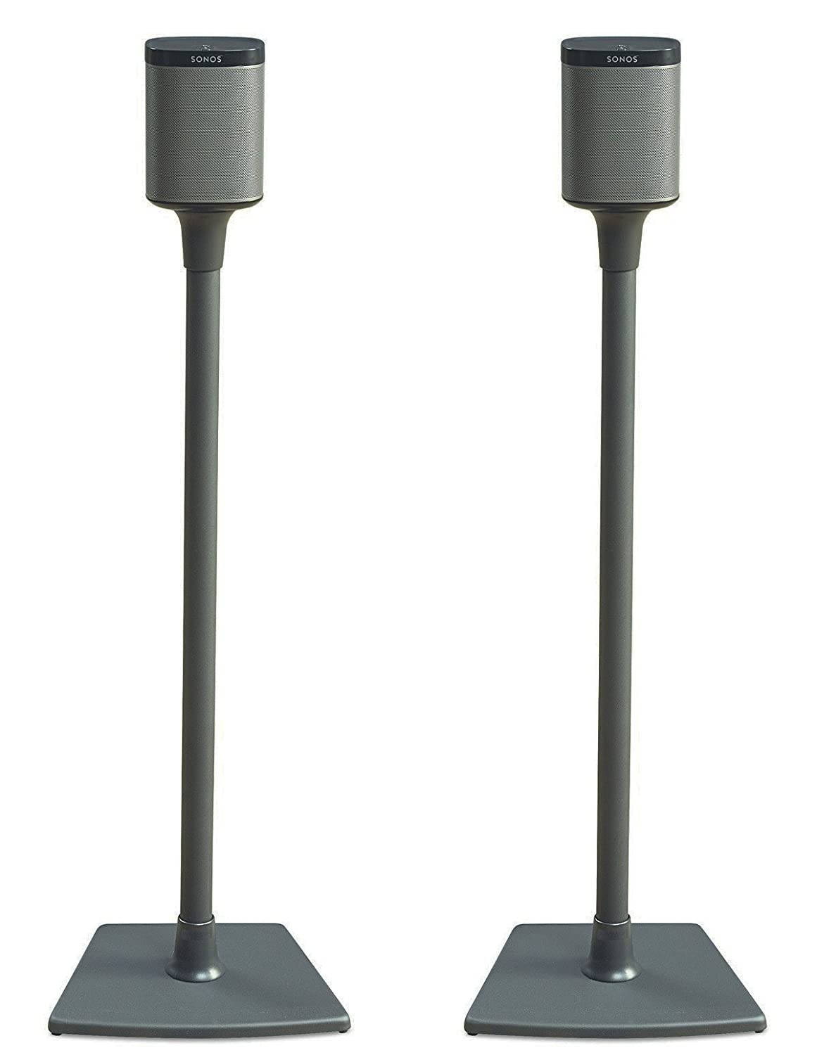 Sanus WSS2-B1 Wireless Speaker Stand Designed for SONOS PLAY 1 and PLAY 3 Speakers 2 Pack Black Tjernlund Products - Audio