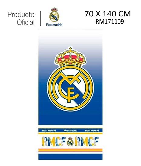 Real Madrid C.F. Toalla DE Playa Y Baño Real Madrid (RM171109, 70X140CM)