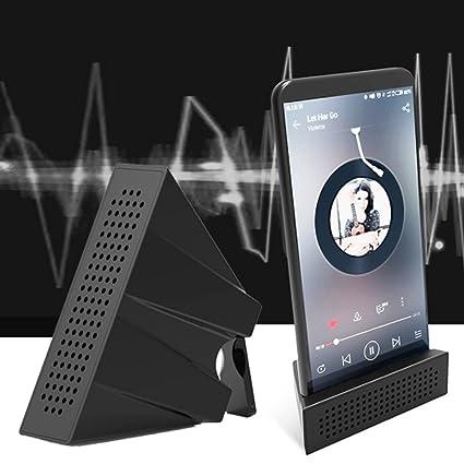Ocamo Amplificador de Sonido Altavoz Soporte Portátil Escritorio Sonido Refuerzo Soporte para Android iPhone