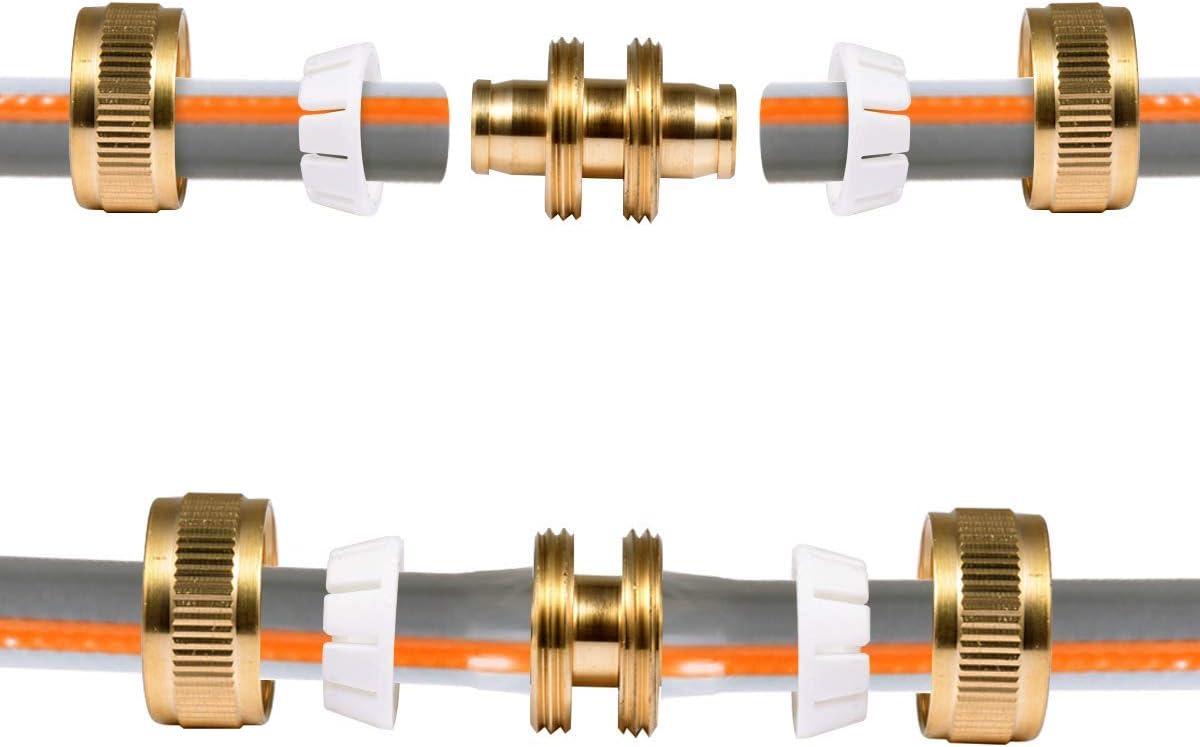 Solution Rapide Extension du connecteur 2 pi/èces CT Connecteur de r/éparation de Tuyau en Laiton Raccord de Tuyau de Descente r/éparation Rapide