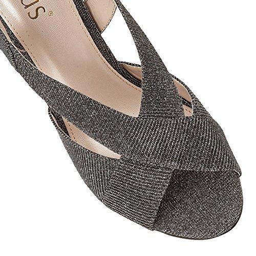 Lotus Textil del Estaño Escarola Abierto-Sling-Back Zapatos 6