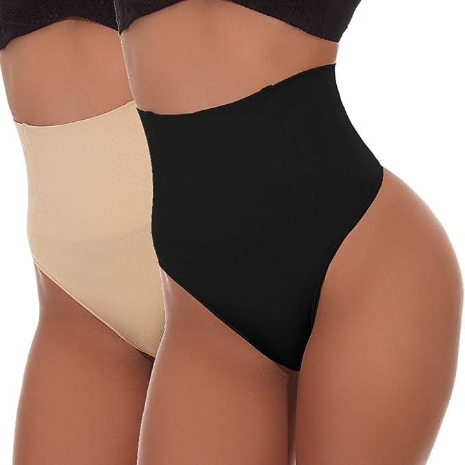 09c137b69 NINGMI Women Waist Cincher High Waist Tummy Control Knickers Slimming Thong  Panties Underwear  Amazon.co.uk  Clothing