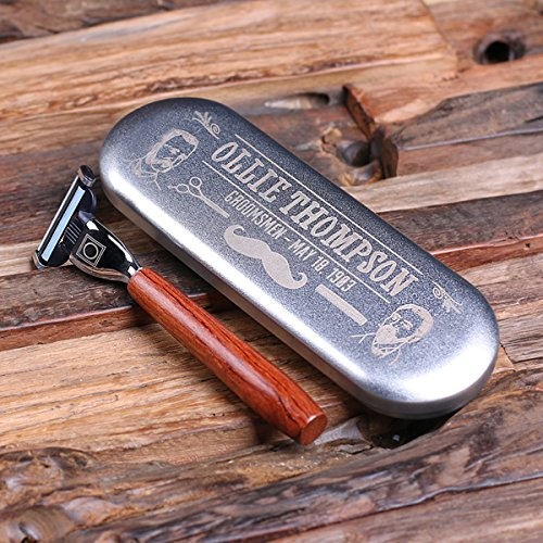 Personalized Mach 3 Razor Blade with Tin Box Fathers Day (Fathers Day Tin)