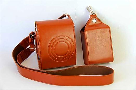 in pelle protettiva Premium per fotocamera Fujifilm Fuji Instax Mini 90 Mini90 Custodia per fotocamera Mini 90 completa di tracolla e borsa per fotocamera Mini Zakao