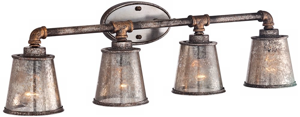 Fillmore 31 3/4'' Wide Industrial Rust Bathroom Light by Franklin Iron Works (Image #4)