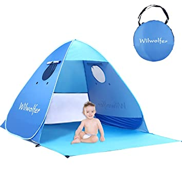 Pop Up Beach Shade Tent Instant Portable UV Protection Cabana Sun Shelter  sc 1 st  Amazon.com & Amazon.com: Pop Up Beach Shade Tent Instant Portable UV Protection ...