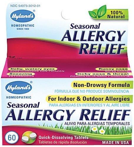 Homéopathique saisonnière Allergy Relief de Hyland 60 comprimés