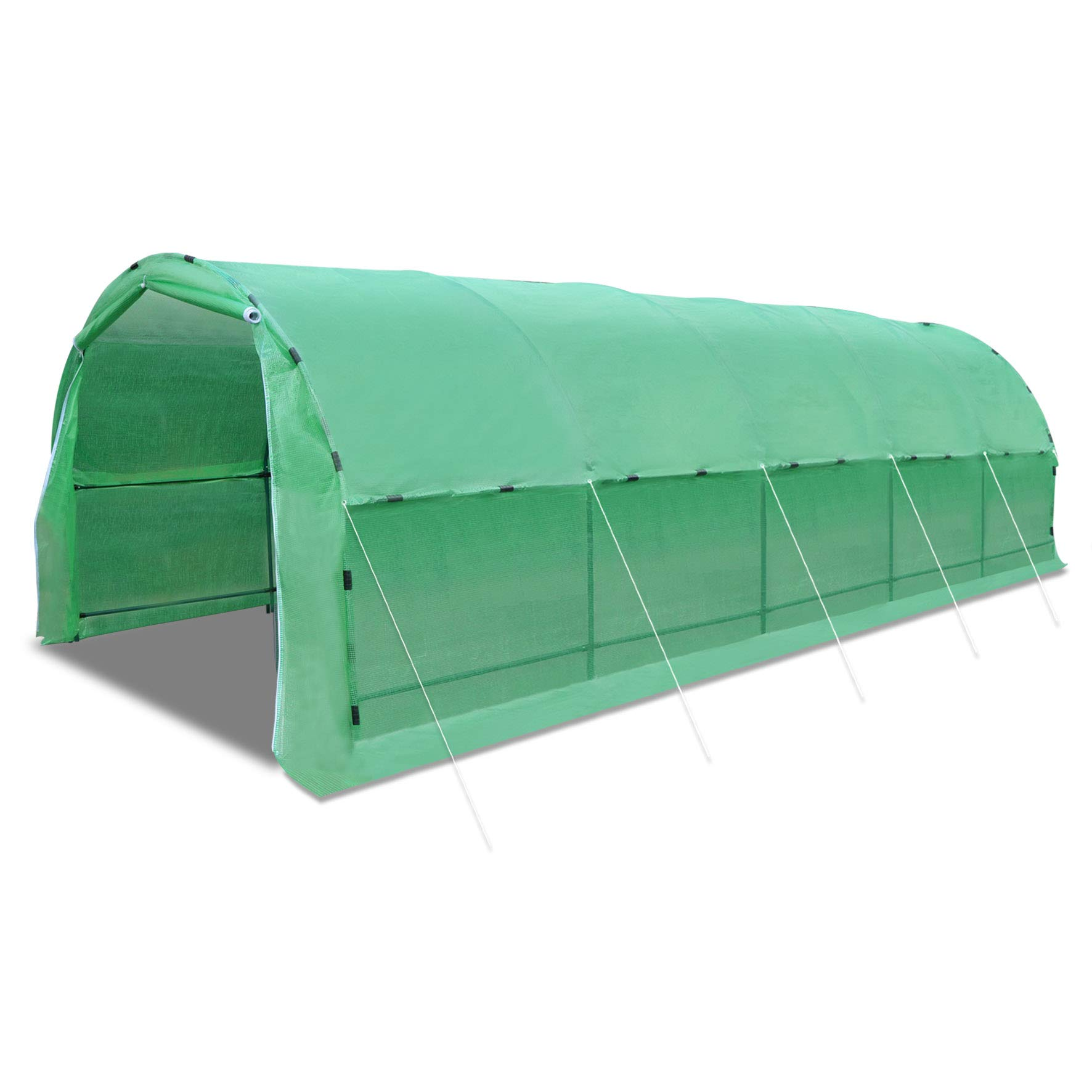 Strong Camel 24.6' X10' X 7' Portable Greenhouse Outdoor Large Walk-in Green Garden Hot House