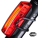 Mr. Spades Bike Tail Light – Powerful 6 Setting, 30 Super Bright LED Bicycle Rear Light Easily Clips On as Red Taillight for Optimum Cycling Safety - 12 Hour Run Time