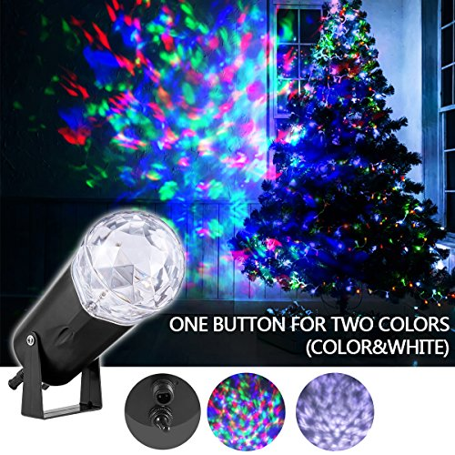 ght Projector LED Patio Lawn light with Flame Pattern, Indoor and Outdoor Waterproof Spotlight Water Wave Night Light for Xmas Birthday Thanksgiving Day Party Holiday Decoration (1/2 Star Deck)
