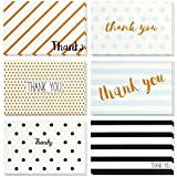 PAPER_PRODUCT  Amazon, модель Thank You Cards - 48-Count Thank You Notes, Bulk Thank You Cards Set - Blank on the Inside, Retro Designs – Includes Thank You Cards and Envelopes, 4 x 6 Inches, артикул B01N035X5D