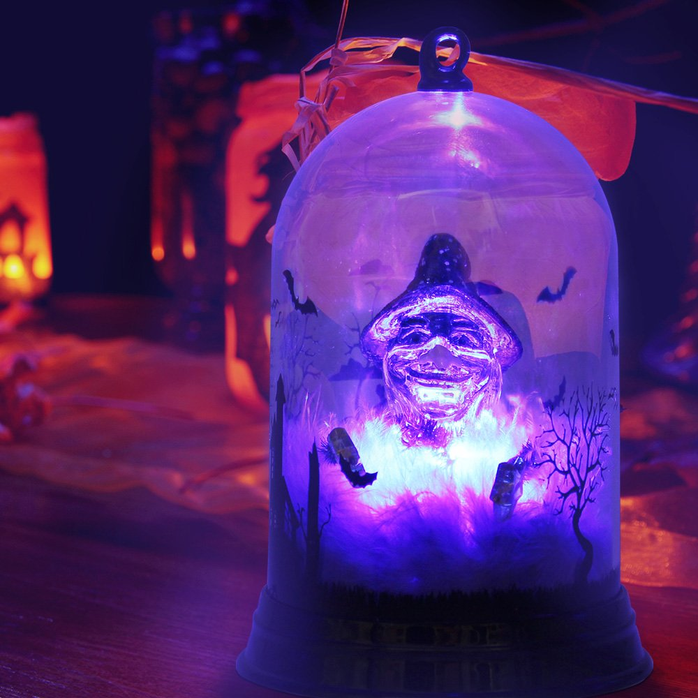 Halloween Decoration Lights Color Change Table Night Light Battery Operated Decoration Lights for Halloween Christmas Party Decorations - Witch