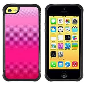 LASTONE PHONE CASE / Suave Silicona Caso Carcasa de Caucho Funda para Apple Iphone 5C / Pattern Bitmap Art Fuchsia White