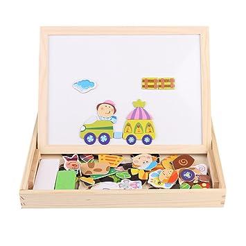 Juguetes de madera para niños Dibujo educativo magnético ...