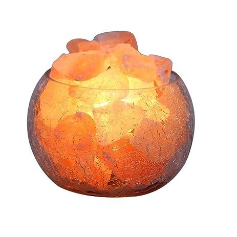 Amazon.com: YYout Natural Rock Crystal Himalayan Salt Lamp Globe ...