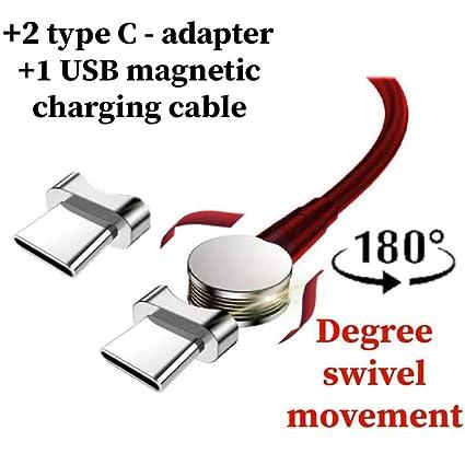 Amazon.com: Cargador de teléfono magnético USB tipo C ...