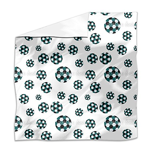 Soccer Flat Sheet: King Luxury Microfiber, Soft, Breathable by uneekee