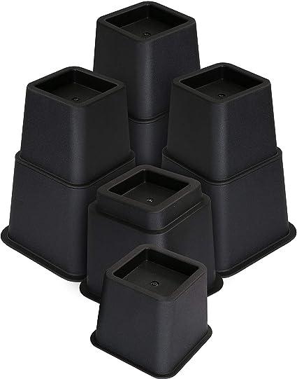 Utopia Bedding [8 piezas] Elevadores de Muebles Ajustables Premium - Elevador de Cama de 13 a 23 cm, Elevador de Mesa, Elevador de Silla o Elevador de ...