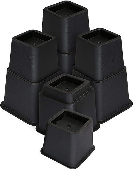 Utopia Bedding Elevadores de Muebles Ajustables Premium - Elevador de Cama de 13 a 23 cm