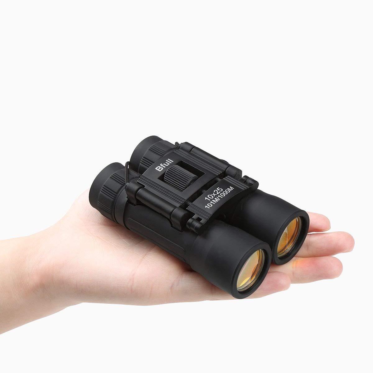 bfull Mini prismáticos compacto plegable prismáticos telescopio para observación de aves viaje