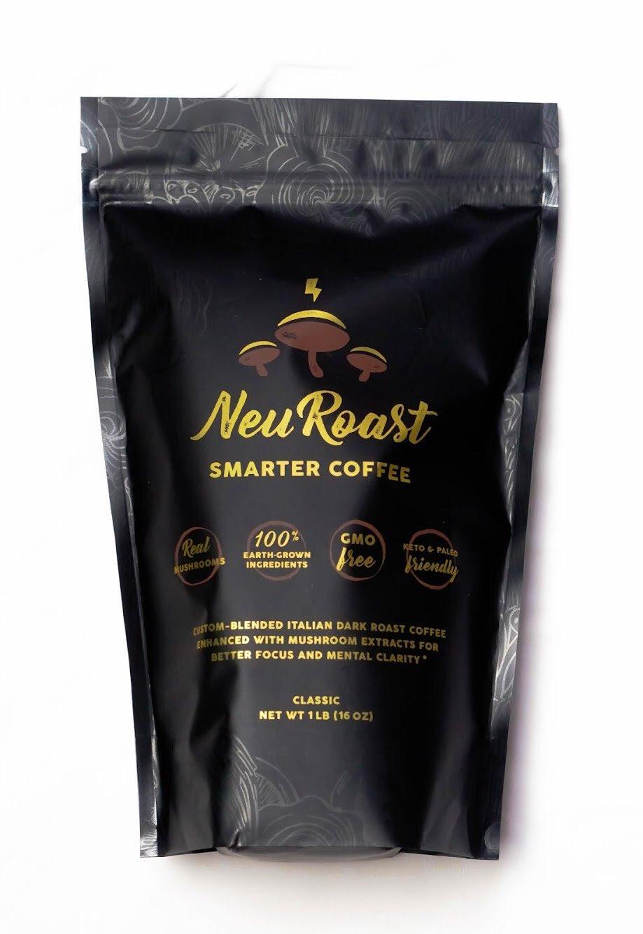 NeuRoast Classic Roast Mushroom Coffee Best Tasting Mushroom Coffee Made with Lion s Mane, Cordyceps, Chaga, Reishi, and Turkey Tail