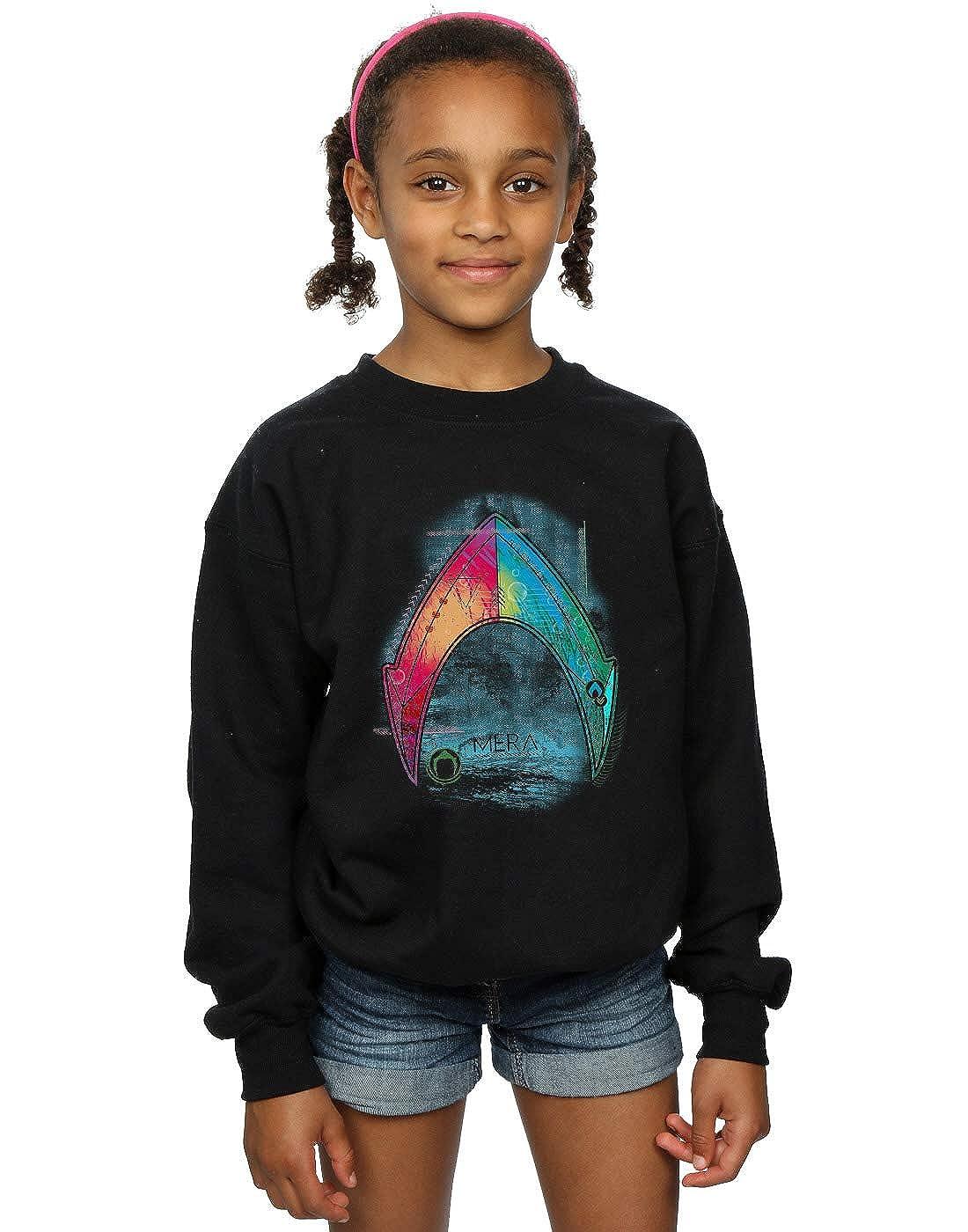 DC Comics Girls Aquaman Mera Logo Sweatshirt