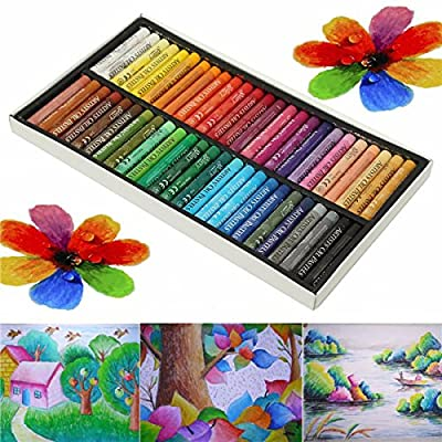 MITUHAKI 50 Colors Crayon Non-toxic Oil Pastels Drawing Pen Artists Mechanical Drawing Paint - 50 x Oil Pastels - Stationery Supplies Pens & Writing Supplies