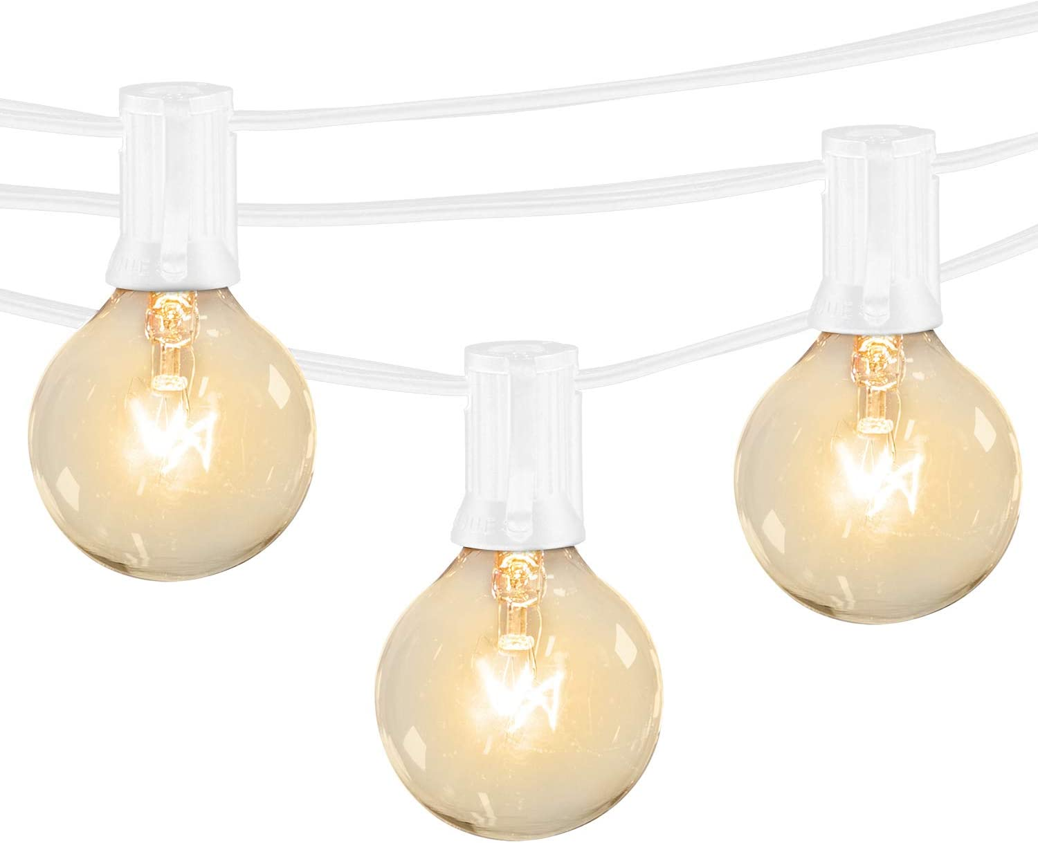 Waterpoof Shockproof Party Outdoor Light String 15 x 1W Warm White Vintage Edison Bulbs Patio Lights Banord 50FT Solar LED String Lights