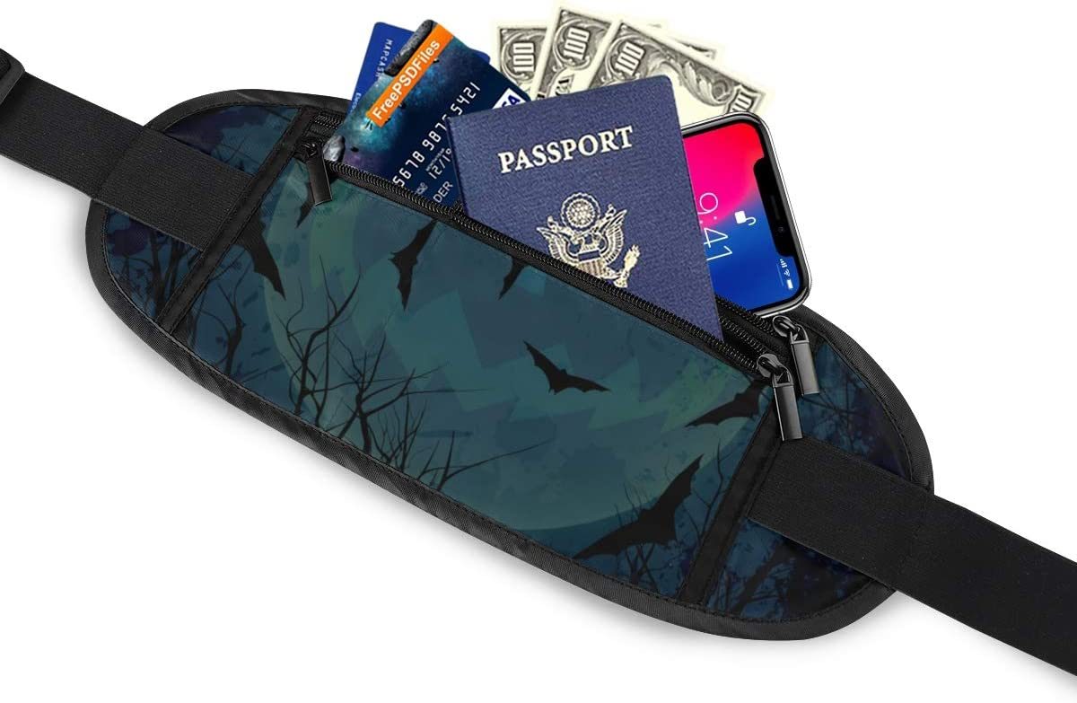 Halloween Night Running Lumbar Pack For Travel Outdoor Sports Walking Travel Waist Pack,travel Pocket With Adjustable Belt