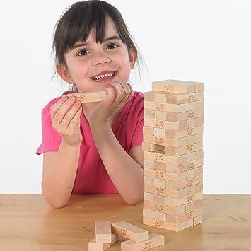 Diversión familiar juegos tradicionales de jardín de mesa y mesa de desafío mental Top Jenga: Amazon.es: Deportes y aire libre