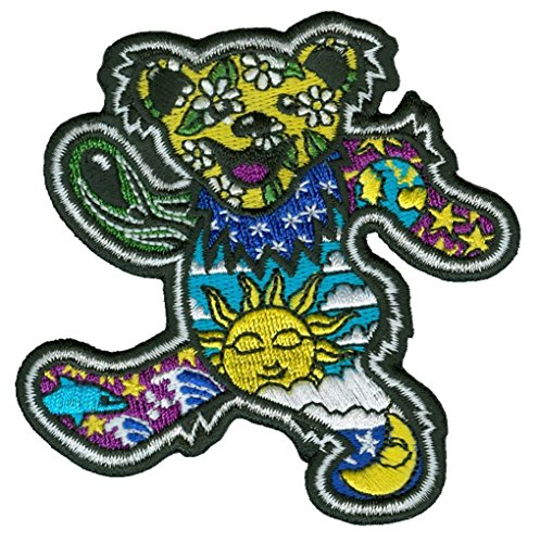 Dancing Bear - Dan Morris, Grateful Dead Embroidered PATCH for Jeans, Jackets, Pants for Men Women and Kids -3.5