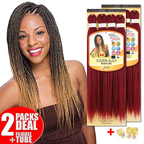 [2PACKS DEAL] Innocence Synthetic Ouatro 4X Pre-Stretched ORIGINAL EZ BRAID 20
