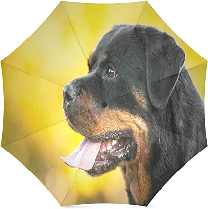 Custom Cute Puppy Dog Compact Travel Windproof Rainproof Foldable Umbrella