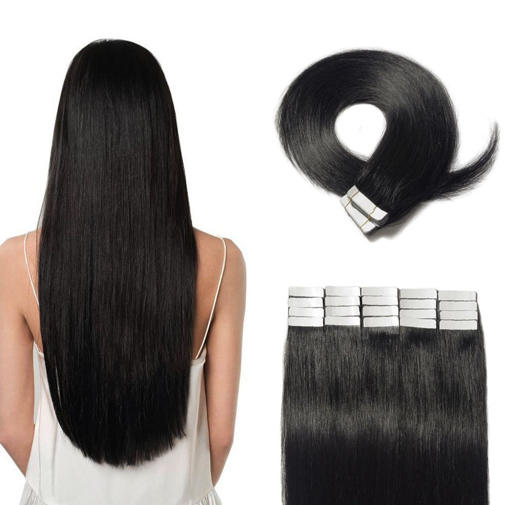 Amazon Tape In Hair Extensions 100 Remy Human Hair 16 18 20