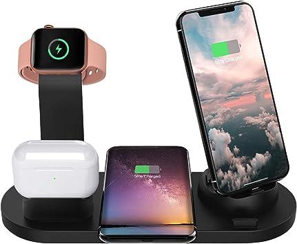 Wonsidary 6 en 1 Chargeur sans Fil Rapide, Station de Charge pour Iwatch Series 54321 & Airpods Pro21, Chargeur à Induction pour iPhone 1111