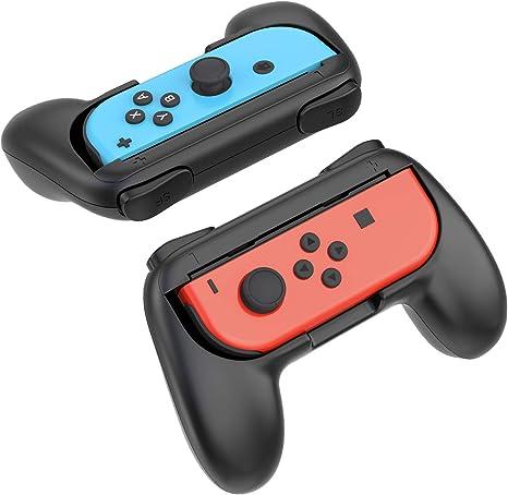 YOSH Agarre o Empuñadura para Nintendo Switch Joy-Con para Mario Kart 8, Super Mario Odyssey, LEGO Marvel Superheroes 2, Mayor Confort y Previene Raspaduras, 2 Unidades (no viene ningún control): Amazon.es: Videojuegos