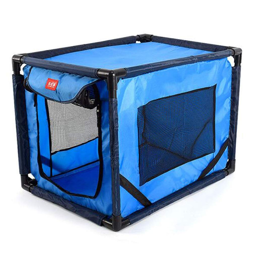 bluee Car Kennel 600D Oxford Cloth Portable Collapsible Pet Tent Cat Dog Delivery Room Pet Fence (color   bluee)